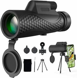 Benewell 12X50 Monocular Telescope, Day and Low Night Vision Waterproof
