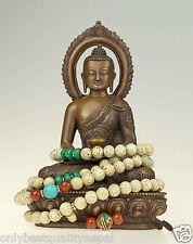 Halsschmuck Mala Gebetskette Lotussamen Nepal Türkis Karneol Rosario Buddha 7c