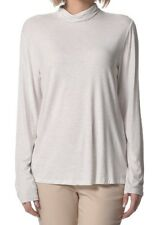 David Jones Women's Poloneck - Cream Melange Marl, Long Sleeve - Size XL