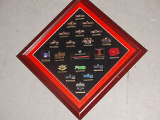 2004 WWF WWE Wrestle Mania WrestleMania Pin Framed Set 20th Anniversary FREESHIP