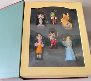 Disney Christmas Storybook Collection Ornaments Pinocchio Set of 6 Retired