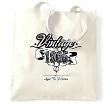 Birthday Tote Bag Vintage Est. 1965 Aged To Perfection Distressed 53 Years