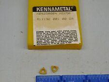 KENNAMETAL CARBIDE DRILLING INSERTS KO4 (10 PCS)