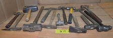 14 blacksmith hammers quality antique & vintage collectible forge tool lot