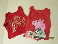 Bundle of 2 Size 3T Long Sleeve Christmas Shirts Girls