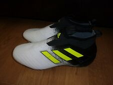 Adidas Ace 17+ Purecontrol FG mens slip on, White & Black football boots size 5
