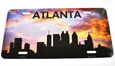 USA Atlanta Georgia Skyline Nummernschild License Plate Deko Blechschild