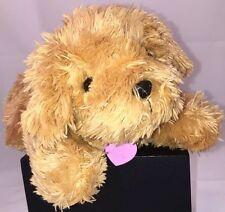"""BARBIE BARKING Dog Plush Stuffed Animal Pet Brown MATTEL Pink Collar 10.5"""" 2005"""