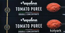 2 x Napolina Tomato Puree Double Concentrate 142g food cooking stew soup