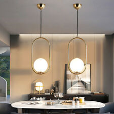Glass Lamp Gold Pendant Light Kitchen Chandelier Lighting Modern Ceiling Lights
