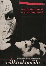 LA GUERRE EST FINIE WAR IS OVER Czech A1 movie poster ALAIN RESNAIS YVES MONTAND