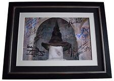 Harry Potter x7 Cast SIGNED FRAMED Photo Autograph 16x12 display Film AFTAL COA