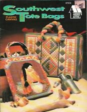 Southwest Tote Bags in Plastic Canvas Annie's Attic 87K26 Indian Design 1993