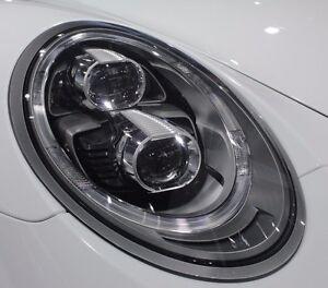 Porsche OEM 991 Carrera 4S S Targa Turbo LED Black-Line Headlamps Brand New