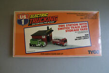 Tyco US1 Electric Trucking Fire Station With Switch Track and Storage Yard NEW