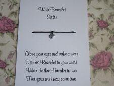 Sister Wish Bracelet Friends Gift Tibetan Heart Charm Anklet Sibling Family