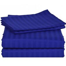 Egyptian Blue Stripe Bed Sheet Set All Extra Deep Pkt & Sizes 1000 Thread Count