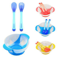 JP_ Baby Child Cute Suction Cup Training Feeding Bowl + Spoon + Fork Tableware