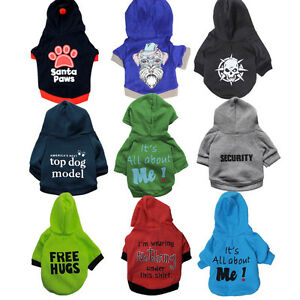 Boy Dog Hoodie Basic Sweatshirt Shirt 9 colors Pet Coat Puppy Cat Clothes XS-L