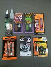 LOT OF Halloween Makeup  GLITTER Costume Cosplay GREEN BROWN RED BLACK NAILS