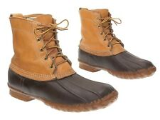 Vintage LL BEAN Boots 9 N Womens MAINE Leather Ankle Snow DUCK Rubber Rain BOOTS