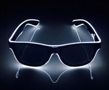 Bright White Neon Ray Sunglasses Festival Party Cool Funky Shades LED Ban Black