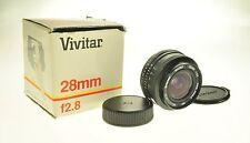 Pentax PK Mount Vivitar 28mm F2.8 Camera Lens