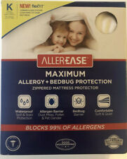 AllerEase Maximum Allergy and Bed Bug Zippered Mattress Protector: King size