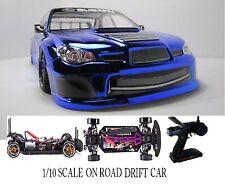 Subaru Imprez WRX Fully Custom 1/10 Scale Remote Control Onroad Drift Car BLUE