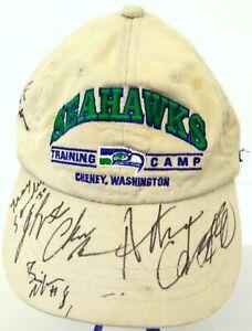 NFL Seahawks Signed Cream Baseball Hat One Size