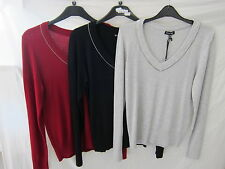 Nylon No Pattern V Neck None Jumpers & Cardigans for Women