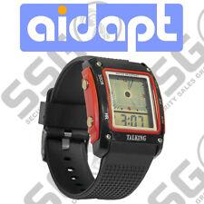Aidapt Talking Digital Watch Water Resistant Alarm Large Display Black Red