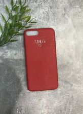 Red Pu Leather Croc Style Iphone 7/8 Plus Personalised With Your Name/ Initials