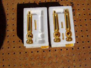 KOHLER REPLACEMENT SINK HANDLES 24 CARAT BRUSHED GOLD K-9636 + RITE TEMP K-9638