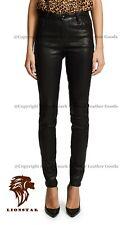 LionStar Tiger Ladies Real Cowhide Leather Pants / Trousers / Leggings