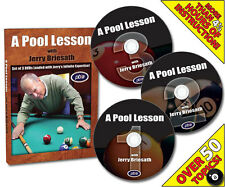 A Pool Lesson With Jerry Briesath DVD Factory sealed 3 dvd set