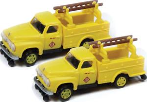 Classic Metal Works #50385 1954 Ford Hi-Rail Maintenance Truck