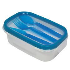 CONTENITORE ERMETICO CON POSATE IN PLASTICA BUON APPETITO LUNCH BOX COLORE BLU