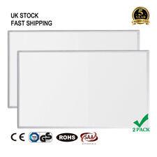 Far Infrared Heating Panel 600W 2 PACK Ultra Slim Heater Radiator Eco Wall Mount