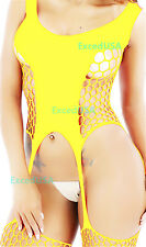 Women's Sexy Lingerie Big Fishnet Body Stockings Mesh Dress Babydoll Sleepwear