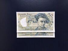 France Billets 50 Francs Quentin de la Tour 1987  Suite Numéro Consécutifs NEUF