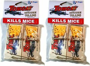 Wooden Spring Mouse Traps Kills Mice Control Tomcat 10 Pack