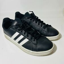 New listing Adidas 9.5 Grand Court Sneaker Black Lace Up Athletic Shoes PWJ001004 MALE