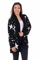 New PLUS Ladies Women's Knitted Open Cardigans Long sleeve Star Knit Jumpers