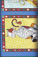 FANCY Felines Panel - J Shore 21425-W 100% Cotton Fabric by Quilting Treasures