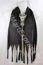 Black Fashion Jewelry Scarf w Decoration Owl Necklace Pendant
