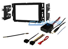 DOUBLE 2 DIN CAR STEREO RADIO DASH KIT W/ WIRE HARNESS & STEERING WHEEL CONTROLS