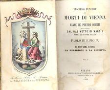 Discorso funebre pei morti di Vienna Pretesi diritti Napoli questione sicula1860