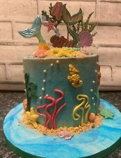 Personalised Name & Age Under The Sea Mermaid Cake Topper Birthday Party.