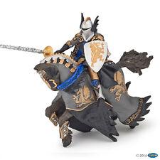 Papo 36001 Schwarzer Drachenprinz und Pferd 14 cm Fantasy